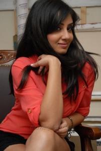 Telugu Actress Bhanu Mehra Hot Images in a Short Dress
