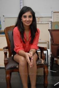 Bhanu Sri Mehra Hot Images in Red Shirt & Black Skirt