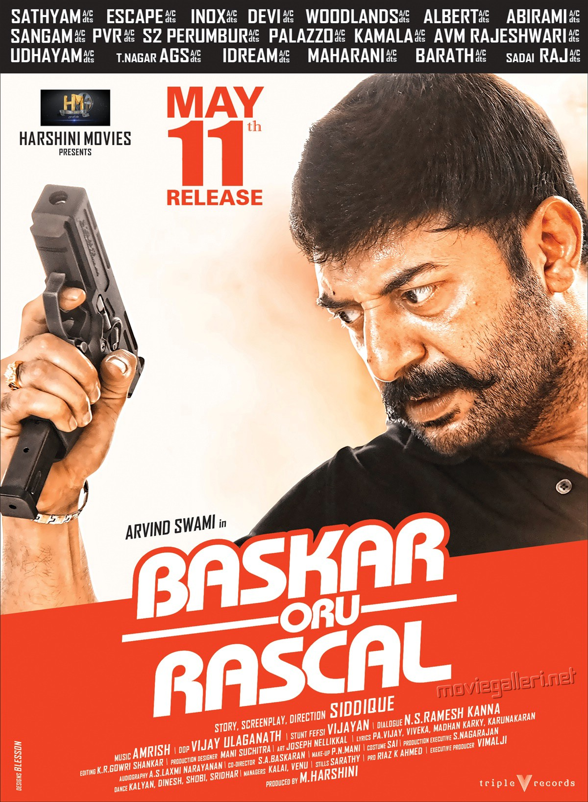 Arvind Swamy in Bhaskar Oru Rascal Movie Release Date May 11th Posters