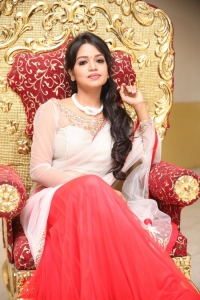Actress Bhavya Sri Hot Images in Transparent Saree