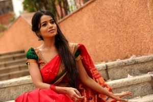 Actress Bhavya Sri Pattu Saree Photos at Silk India Expo 2018 Launch