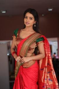 Bhavya Sri Hot Saree Photos at Silk India Expo 2018 Launch