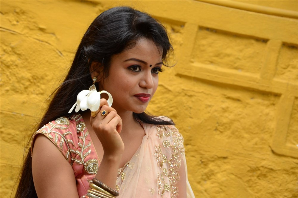 Actress Bhavya Sri Images @ Seeta Devi Movie Opening