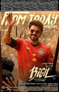 Vijay Bigil Movie Today Release Posters HD