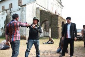 Ajith in Billa 2 Movie On Location Stills