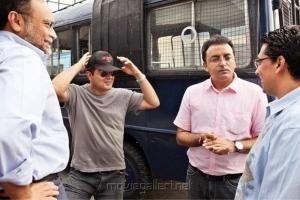 Ajith, Chakri Toleti at Billa 2 Working Stills