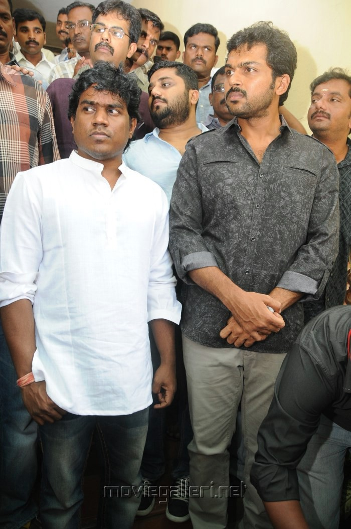 Yuvan Shankar Raja, Karthi @ Biriyani Movie Team at CBCID Office Photos