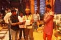 Director Kannan, Santhanam, Bharath Reddy @ Biskoth Movie Working Images