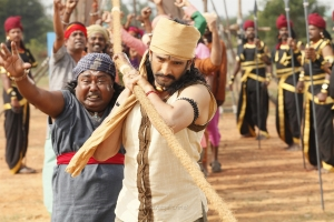 Lollu Sabha Manohar, Santhanam in Biskoth Movie HD Images