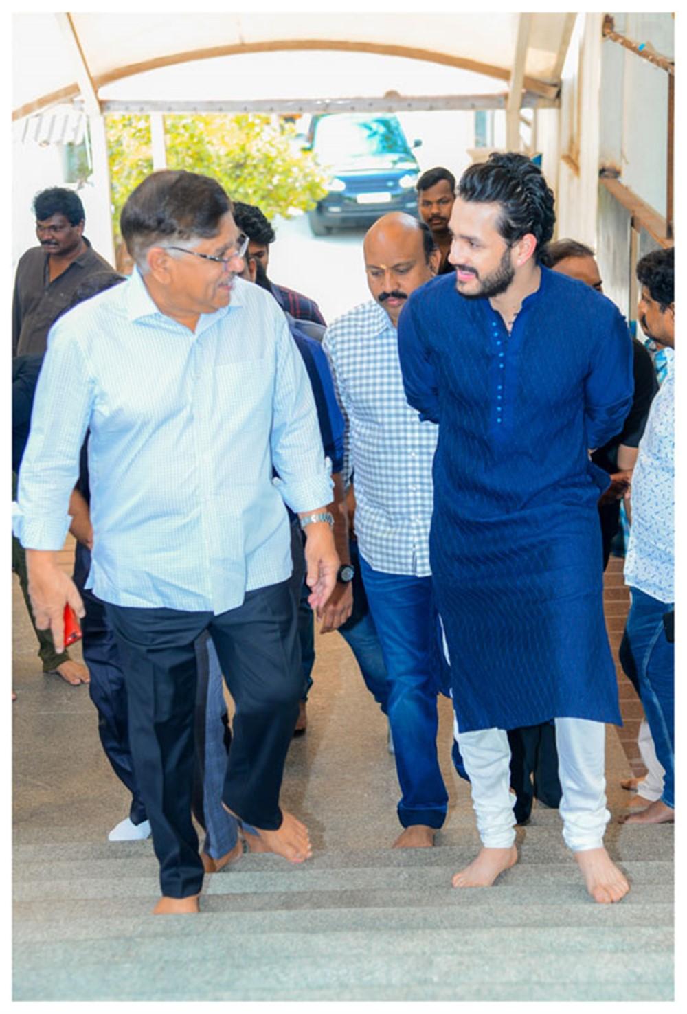 Allu Aravind @ Bommarillu Bhaskar Akhil Akkineni Movie Opening Stills