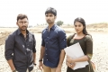 RJ Balaji, Atharva, Indhuja in Boomerang Movie Shooting Spot Stills
