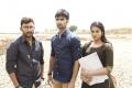 RJ Balaji, Atharva, Indhuja in Boomerang Movie Shooting Spot Stills