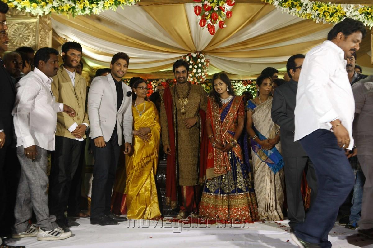 Allu Arjun at Brahmanandam Son Gautam Wedding Reception Photos