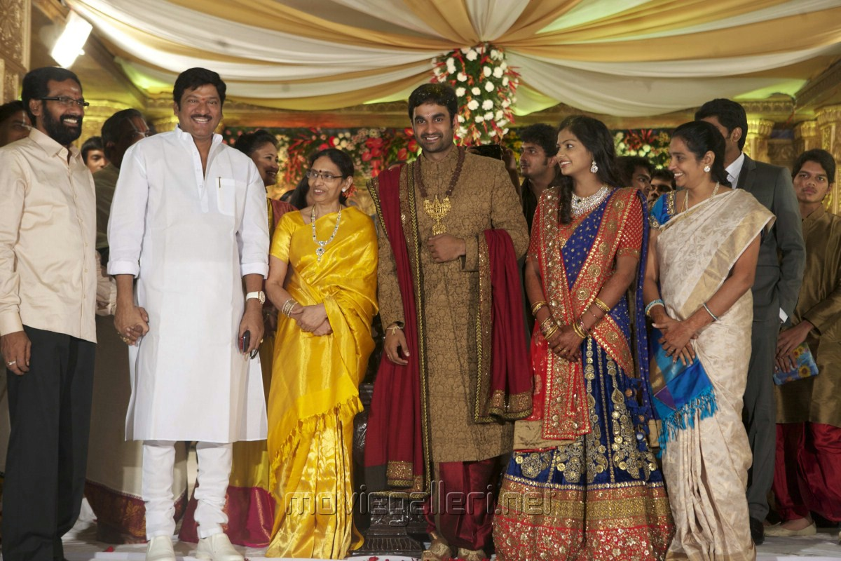 Rajendra Prasad at Brahmanandam Son Gautam Wedding Reception Photos