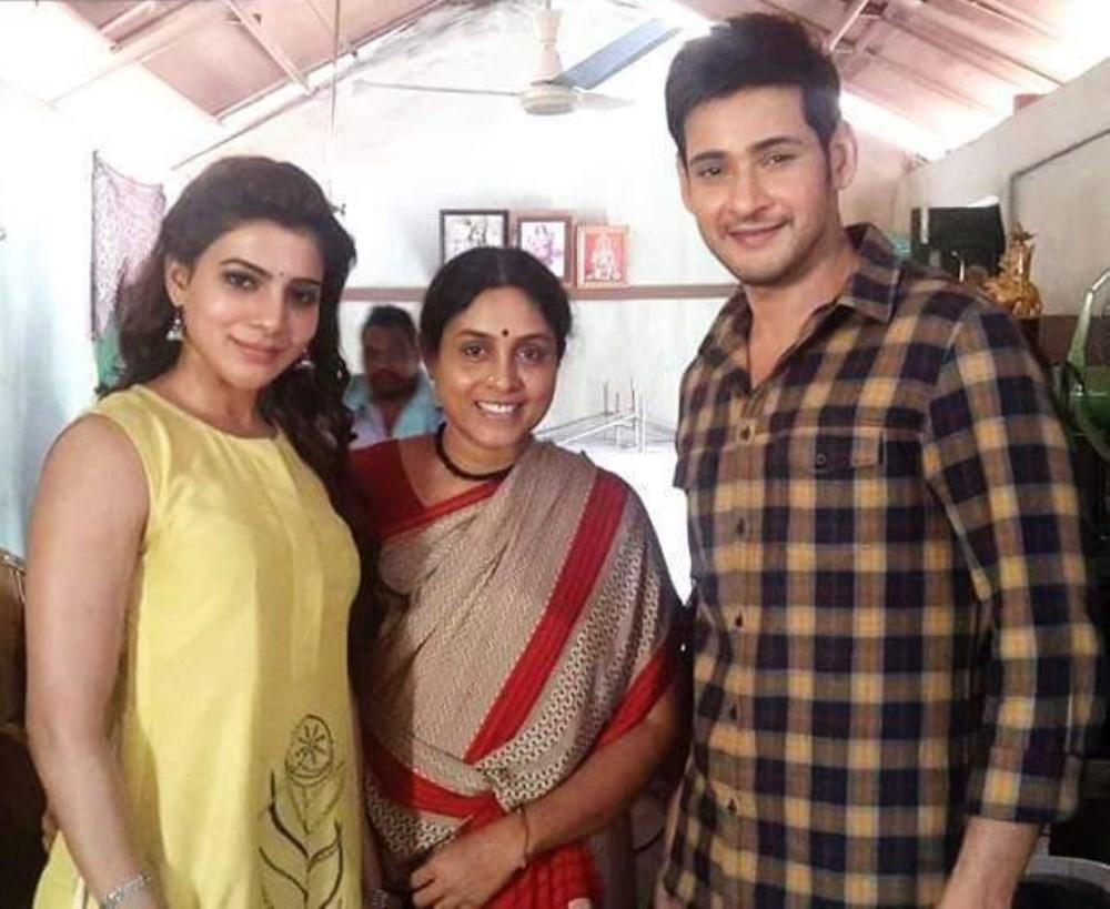 Samantha, Saranya Ponvannan, Mahesh Babu @ Brahmotsavam Working Stills