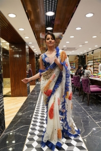 Actress Anasuya Bharadwaj @ Brand Mandir Wedding Saree Collection Launch Photos