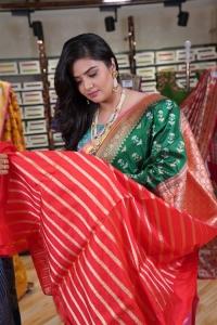 Actress Sreemukhi @ Brand Mandir Wedding Saree Collection Launch Photos
