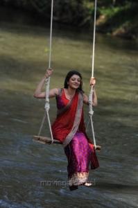 Brindavanam Heroine Kajal Hot Saree Stills