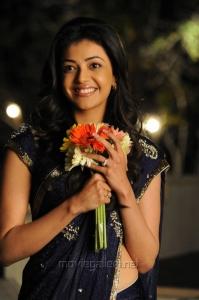 Telugu Actress Kajal Hot Saree Stills