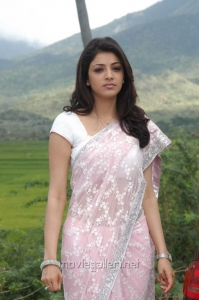 Brindavanam Kajal Hot Saree Stills