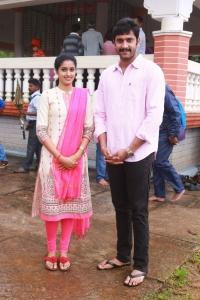 Dhanya, Arulnithi @ Brindhavanam Movie Poojai Stills