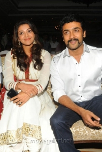 Kajal, Suriya at Brothers Movie Audio Release Function Photos
