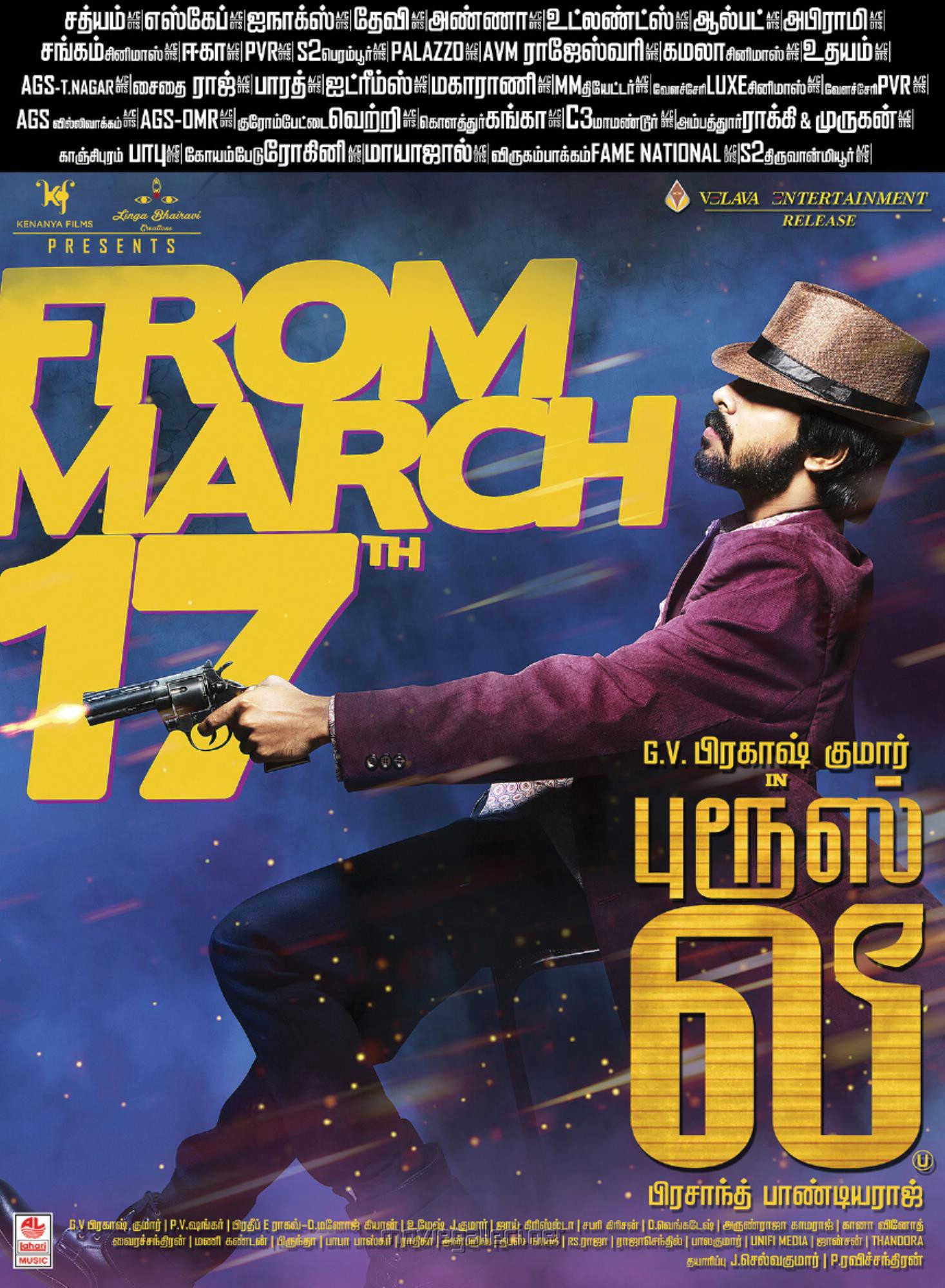 Actor GV Prakash Kumar in Bruce Lee Movie Release Posters