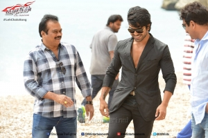 DVV Danayya, Ram Charan @ Bruce Lee Movie Working Stills