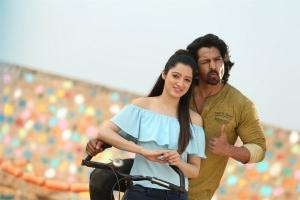 Richa Panai, Harshvardhan Rane in Brundavanamadi Andaridi Movie Stills