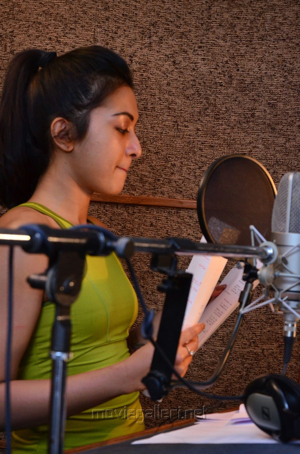Gautham Nanda Actress Catherine Tresa dubbing Photos