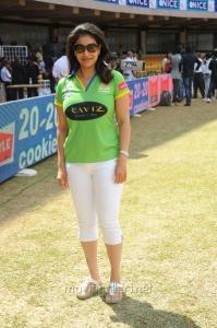 Lizzy Priyadarshan @ Telugu Warriors Vs Kerala Strikers CCL 2 Match Stills