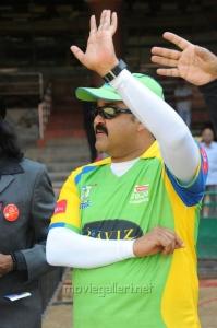 Mohanlal @ Telugu Warriors Vs Kerala Strikers CCL 2 Match Stills