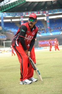Victory Venkatesh @ Telugu Warriors Vs Kerala Strikers CCL 2 Match Stills