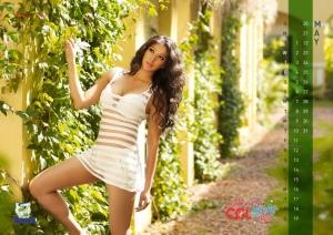 May 2012 Lakshmi Rai Hot CCL Calendar Stills