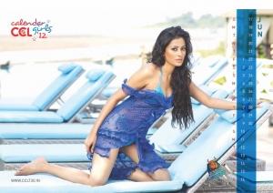 June 2012 Nidhi Subbaiah Hot CCL Calendar Stills