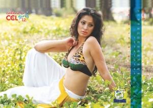 September 2012 Lakshmi Rai Hot CCL Calendar Stills
