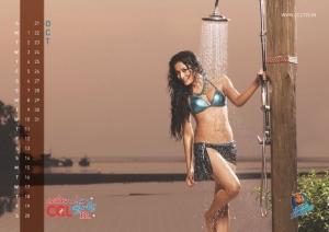 October 2012 Nidhi Subbaiah Hot CCL Calendar Stills