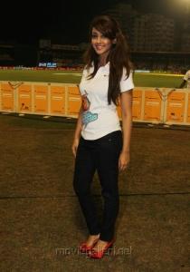 Aindrita Ray at CCL 3 Chennai Rhinos Vs Karnataka Bulldozers Match Photos