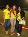 Madhu Shalini, Varalaxmi Sarathkumar, Sonia Agarwal at Chennai Rhinos Vs Karnataka Bulldozers Match Photos