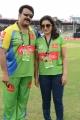 Mohanlal, Lissy Priyadarshan at CCL 3 Kerala Strikers Vs Bhojpuri Dabanggs Match Photos
