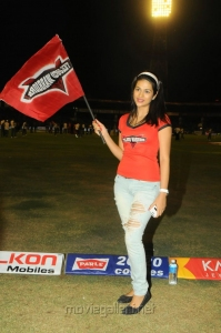 Shraddha Das at CCL 3 Telugu Warriors Vs Mumbai Heroes Match Photos