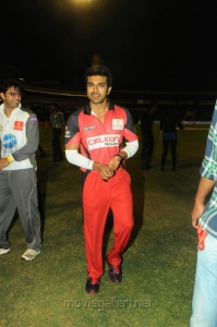Ram Charan Teja at CCL 3 Telugu Warriors Vs Mumbai Heroes Match Photos
