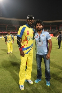 Actor Vishal @ CCL 4 Chennai Rhinos Vs Karnataka Bulldozers Match Photos