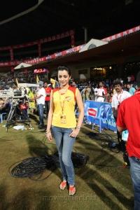 Actress Trisha @ CCL 4 Chennai Rhinos Vs Karnataka Bulldozers Match Photos