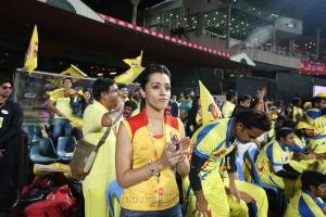Actress Trisha @ CCL 4 Chennai Rhinos Vs Karnataka Bulldozers Match Photo