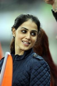 Actress Genelia @ CCL 4 Kerala Strikers Vs Veer Marathi Match Photos