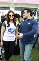 Salman Khan , Huma Qureshi @ CCL 4 Mumbai Heroes Vs Telugu Warriors Match Photos