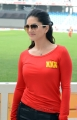Sunny Leone @ CCL 4 Mumbai Heroes Vs Telugu Warriors Match Photos