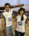 Ritesh, Genelia @ CCL 4 Semi Final Karnataka Bulldozers vs Mumbai Heroes Match Photos
