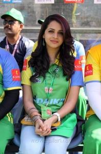 Bhavana @ CCL 4 Telugu Warriors vs Kerala Strikers Match Stills